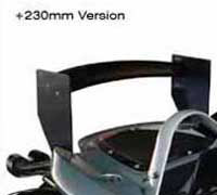 Lotus 340R Carbon Fibre/Nomex Rear Wing Supports - 230mm Raised, Pair