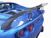 Lotus Elise S2 Carbon Rear Wing Assembly Kit - Adjustable w/Supports SPECIAL OFFER