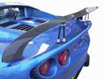 Lotus Elise S2 Carbon Rear Wing Kit (Curved) - 150mm Chord x W1450mm, Adjustable Supports