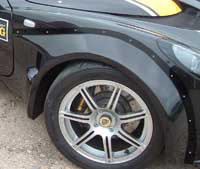 Lotus Exige S2 GRP Front Wheel Arch Kit Pair (External Flange)