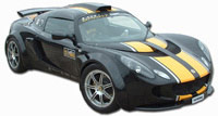 Lotus Exige S2 GRP Full Wheel Arch Kit (Internal Flange) - 40/55mm