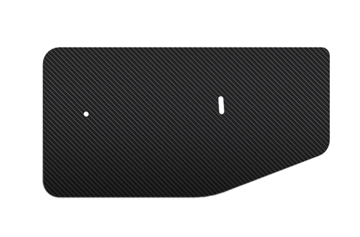 Carbon Fibre Rear Wing End Plates for 300/310mm Chord Wings 2-Eleven race car shape 1.8mm thick
