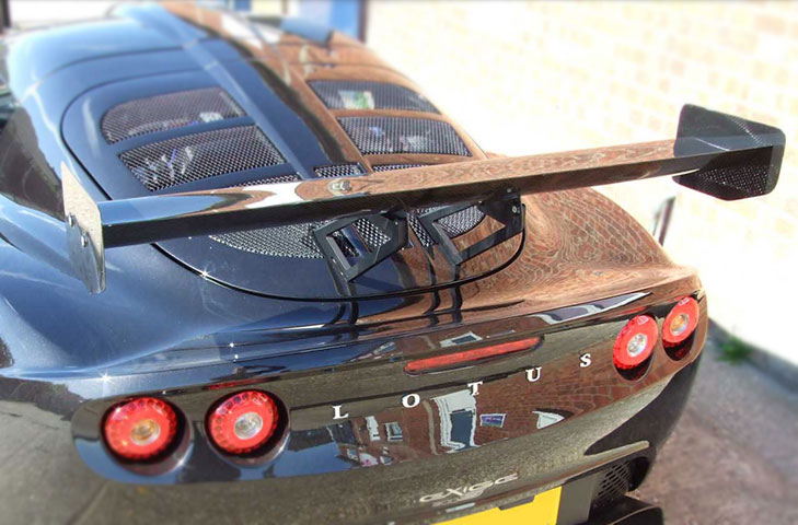 Lotus Exige S2 Carbon Rear Wing Kit (Straight) - 225mm Chord x W1245mm,  Adjustable