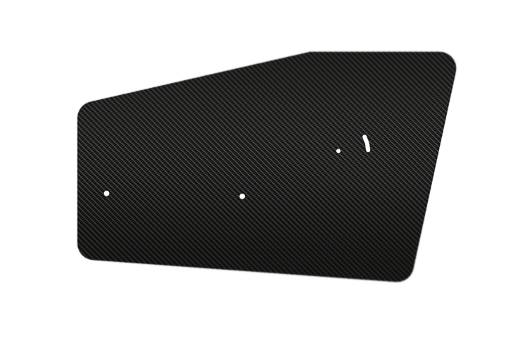 Carbon Fibre Rear Wing End Plates for 310mm Dual Element Wings