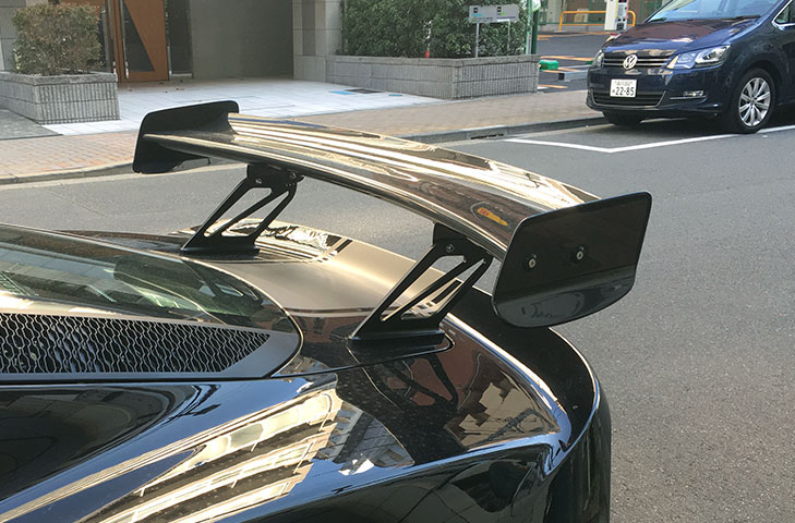 Lotus Exige 380 S3 V6 Carbon Fibre Rear Wing Kit (Curved) - 225mm Chord, Exige 380 Style End Plates