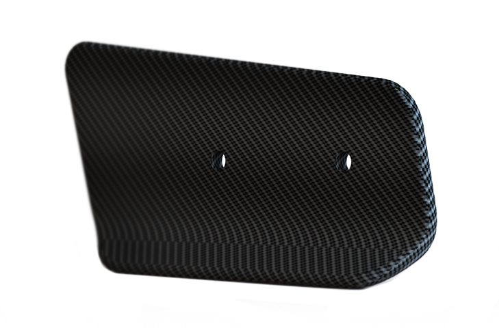 Lotus Exige 380 V6 Carbon Fibre Angled Wing End Plates - 225mm Chord