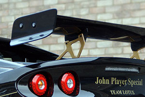 Lotus Elise S3 250 Cup Motorsport Carbon Fibre Rear Wing - 225mm Chord (straight), Adjustable, W1300mm