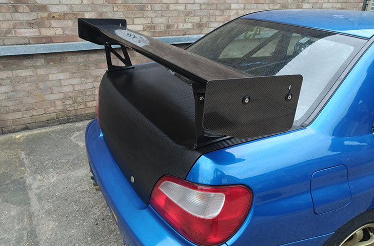 Subaru Impreza (00 - 07) 2nd Generation GD, GG Carbon Fibre Rear Wing Kit - R01SB0517