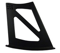 Lotus Elise/Exige S2 12mm Alloy High Level Wing Support Mount - Black