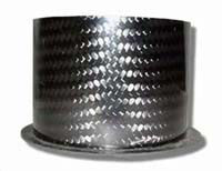 Air Intake/Inlet Pipe - 75mm Straight Outlet, Carbon Fibre