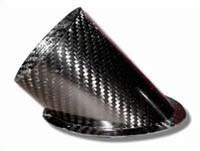 Air Intake/Inlet Pipe - 75mm 45deg Angle Outlet, Carbon Fibre