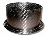 Air Intake/Inlet Pipe - 100mm Straight Outlet, Carbon Fibre