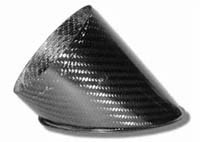Air Intake/Inlet Pipe - 100mm 45deg Angle Outlet, Carbon Fibre
