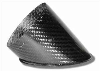 Air Intake/Inlet Pipe - 100mm 45deg Angle Outlet, Carbon Fibre - R01SE0164