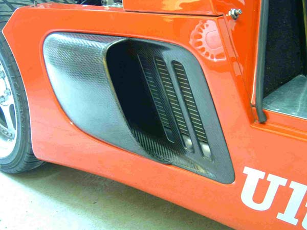 Ultima GTR/Can-Am Carbon Fibre Air Intake Duct Assembly - UK Drivers Side