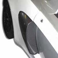 Lotus Exige S2 Carbon Fibre Side Intake Scoops - 3 Holes, Pair