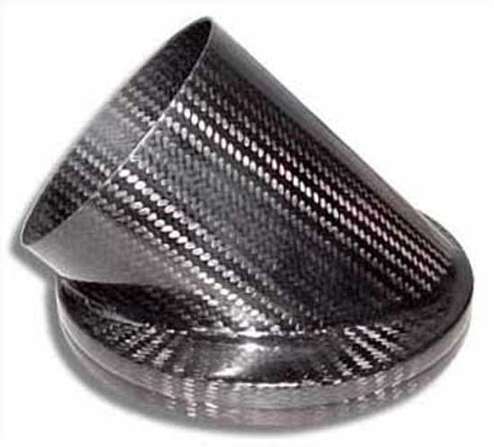 Air Intake Duct Adaptor - 152mm 45deg Inlet, 100mm Outlet, Carbon - R01SE0303
