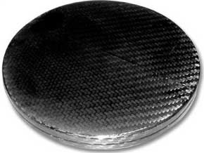 Air Intake Duct Blank Plate - 152mm, Carbon Fibre - R01SE0348