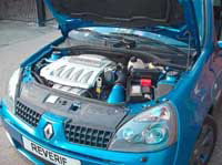 Renault Clio 182 2.0 Air Induction Kit with Oil Vent Breather - Alloy