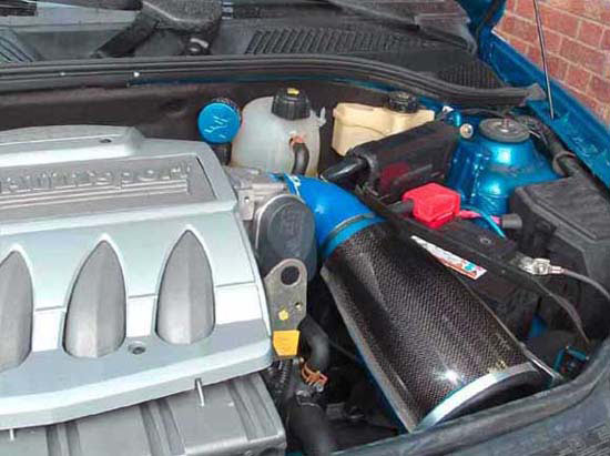 Daytona 230c renault clio 2.0l 182 induction kit (carbon case) with race oil vent breather & silicone elbow - R01SE0369