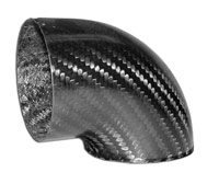 Air Intake 90deg Corner Angle Adapter - 100mm Dia, Carbon Fibre