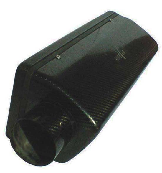 Reverie Interlagos 425 Carbon Air Box - LH 100mm Inlet, Std Backplate