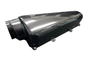 Reverie Zolder Macau Max 6 Cyl Carbon Air Box - RH 127.5mm/150mm Tapered Bottom Intake, fits JC100 Baseplate