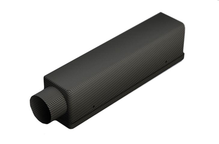 Reverie Interlagos 425C Carbon Air Box LH 75mm Inlet - Std Backplate - R01SE0780
