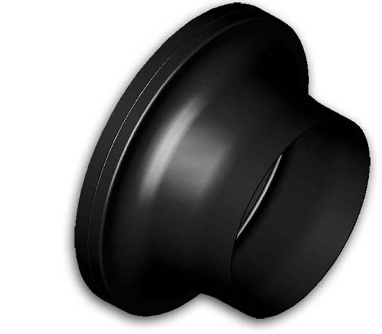 85mm to 152mm filter adapter spun alluminium anodised black - R01SE6150