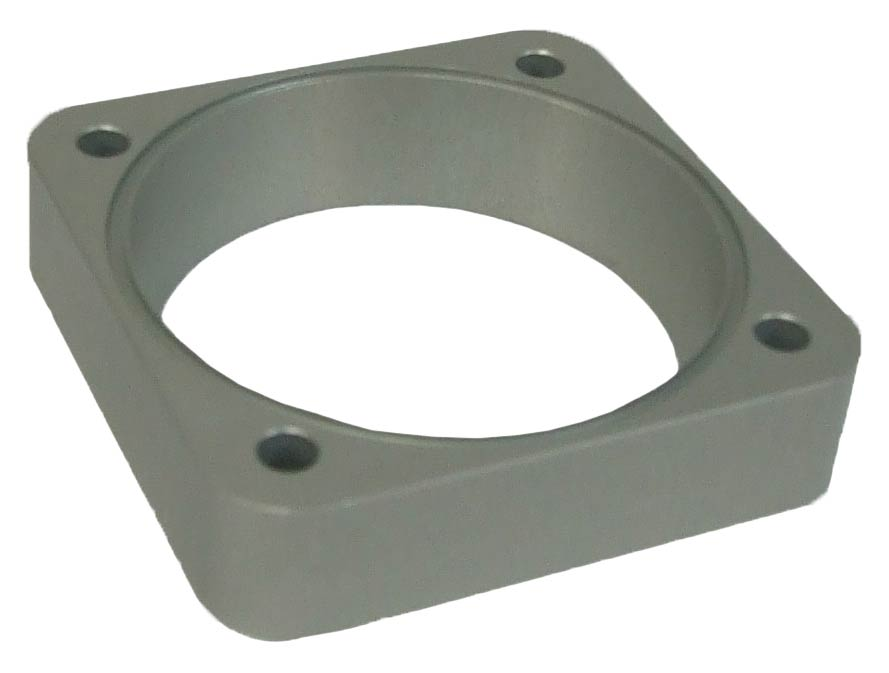 Fontana S2000  ACTIVE TECHNOLOGIES ZOLDER 64-70MM, ALLOY ANODISED CLEAR PLENUM THROTTLE ADAPTER SPACER - R01SE6182