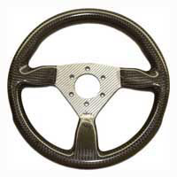 Flight 315 Carbon Steering Wheel - MOMO/Sparco/OMP Drilled, Silver Centre