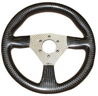Flight 280 Carbon Steering Wheel - MOMO/Sparco/OMP Drilled, Silver Centre