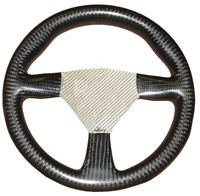 Flight 280 Carbon Steering Wheel - Undrilled, Silver Centre
