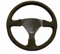 Rally 350 Carbon Steering Wheel - Undrilled, Alcantara Trimmed