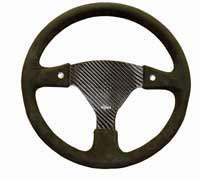 Rally 350 Carbon Steering Wheel - Undrilled, Alcantara Trimmed, 2 Button
