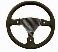 Rally 350 Carbon Steering Wheel - Undrilled, Alcantara Trimmed, 3 Button
