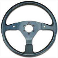 Rally 350 Carbon Steering Wheel - MOMO/Sparco/OMP Drilled, Untrimmed, 2 Button