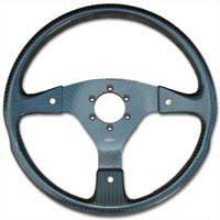 Rally 350 Carbon Steering Wheel - MOMO/Sparco/OMP Drilled, Alcantara Trimmed, 3 Button