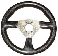 Flight 280 Carbon Steering Wheel - Nardi/Personal Drilled, Silver Centre