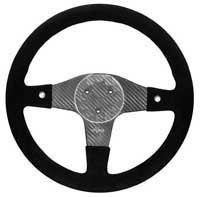 FQ350 Carbon Steering Wheel - 3-Stud Drilled, Alcantara, 2 Button