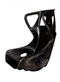 Xr c twin skin seat, wide fia version (carbon fibre)  (side mount only) with head rest.