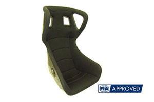 Reverie XR C Carbon Fibre Seat (W) - Twin Skin, FIA Spacer Fabric Trimmed, Head-Restraint