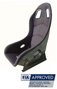 Reverie Super Sports Carbon Fibre Seat - Twin Skin, FIA Fabric Trimmed, FIA Approved
