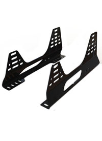 Reverie Universal 'Kinked' Seat Subframe Mounts - Pair, Satin Black Powder Coated