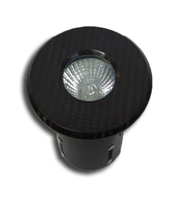 Bezel Shower Light (Carbon Fibre) 240v GU10 50W - Fire Rated