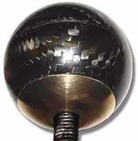 Carbon Fibre Gear Shift Knob - M12-1.25 Non-Lift-Reverse, Tungsten Filled, Brass Insert