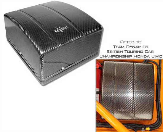 FIA Carbon Fibre Battery Box - L250 x W300 x D140mm (for Red Top DMS) - R01SY0009